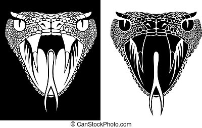 snake head  - nice snake head in two versions as background