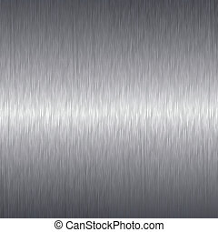 Brushed aluminium metal plate