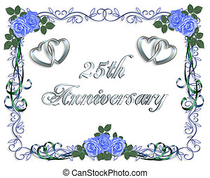 25th Wedding Anniversary Border - 25th Wedding anniversary...