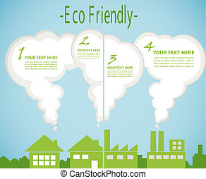 factory pollution vs green city enviroment