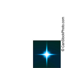 Bright blue star. Vector illustration