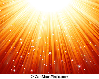 Sunburst rays of sunlight tenplate. EPS 8