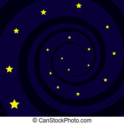 Black Hole Spiral Stars - Black hole spiral with many stars...