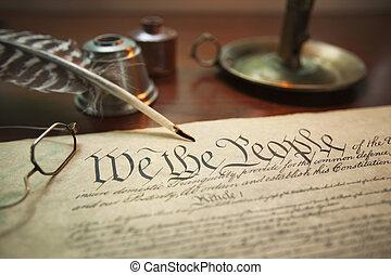 團結, 憲法, 圖像, 集中, 國家, 選擇性, 蠟燭, 鋼筆, 持有人, 纖管, 眼鏡