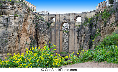 Ronda, Spain - Panoramic view of the old city of...