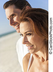 Middle Aged Man Woman Couple At Beach
