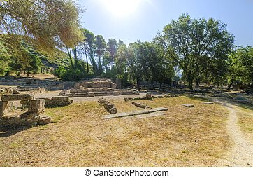 Ancient site of Olympia, Greece - Ruins of the ancient site...