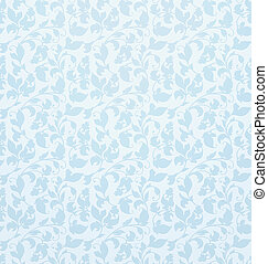 Seamless pattern vector, blue