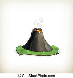 Volcano, vector icon