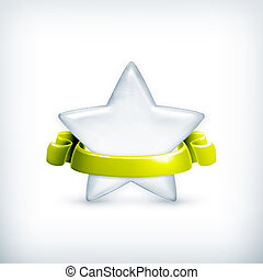 White star, award vector