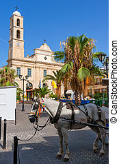 Town square Chania, Crete, Greece - Greek Orthodox Cathedral...