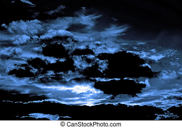 Sunset storm clouds - Sunset sky with dramatic storm clouds...