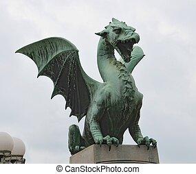 Ljubljana, 橋, ドラゴン