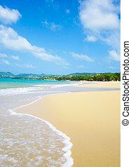 Sand Beach - Sand beach of St.Lucia