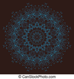 Ornamental round lace pattern - Ornamental round floral...