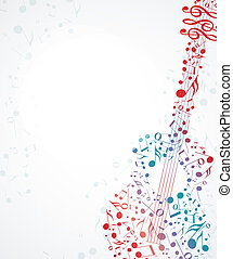 music background - Vector musical background with colored...