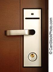 Door handle - Hotel door handle with security lock