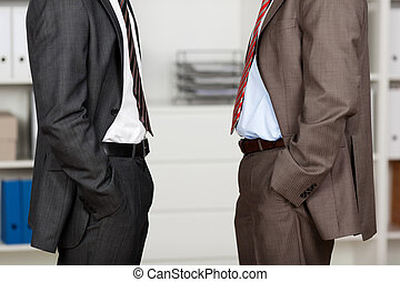 Standing businessmen - Conceptual portrait of two...