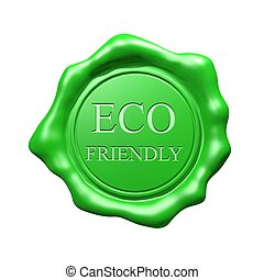 Green Wax Seal - Eco Friendly - Isolated