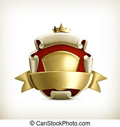 Abstract ancient coat of arms, vector