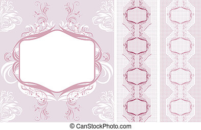 Ornamental lacy borders for design. Vector illustration
