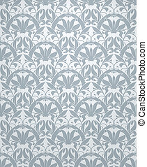 Seamless pattern vector, grey