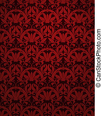 Seamless pattern vector, red