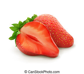 Strawberry, vector illustration