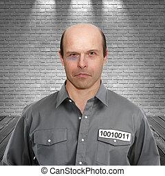 Criminal in prison