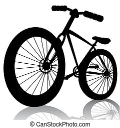 bike silhouette.Vector bicycle isolated on whitefor design