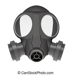 Gas mask. Isolated render on a white background