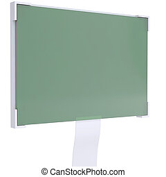 Liquid crystal display. Isolated render on a white...