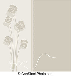 vector vintage background with flowers in pastel colors