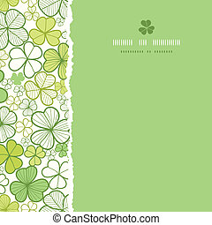 Clover line art square torn seamless pattern background