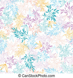Colorful pastel branches seamless pattern background -...