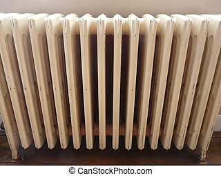 Cast iron radiator - Old cast iron radiator which is part of...