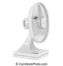 Electric fan. Isolated render on a white background