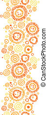 Sunny faces vertical seamless pattern background border