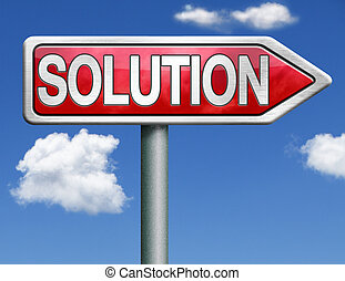 solution road sign arrow - find solutions red road sign...