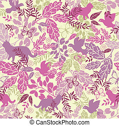 Wildlife seamless pattern background - Vector wildlife...