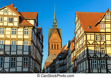 Marktkirche and old city, Hannover - Marktkirche and the old...