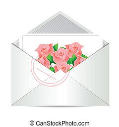 love letter illustration design