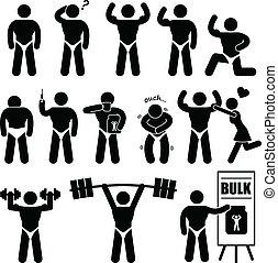 Body Builder Bodybuilder Muscle Man - This is a set of...