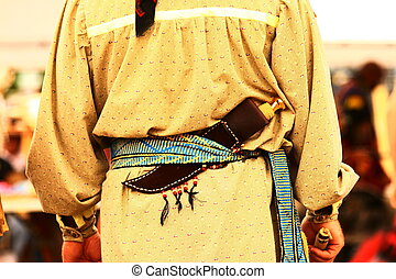 Indian Regalia - Indian regalia at a local powwow held at...