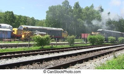 Steam train - Steam train running on a preserver line