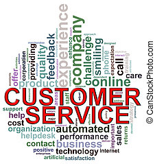 Circular shape customer service wordcloud - Illustration of...