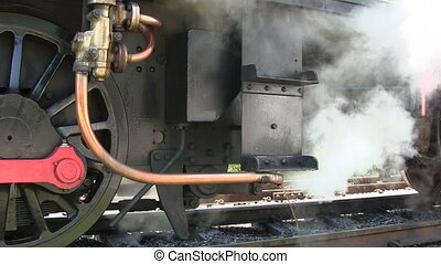 Steam train - Steam train standing on a preserver line