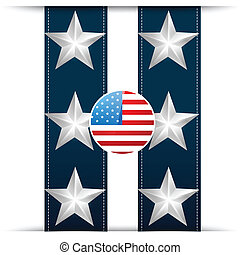 american flag - vector stylish american flag design