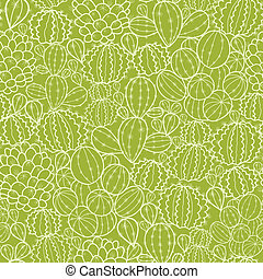 Cactus plants seamless pattern background - Vector cactus...