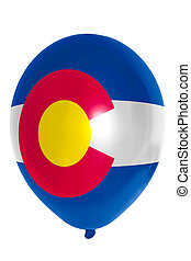 Balloon colored in flag of american state of colorado - flag...